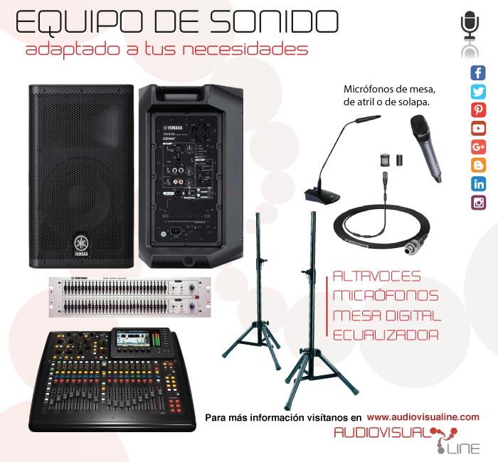Alquiler equipo de sonido