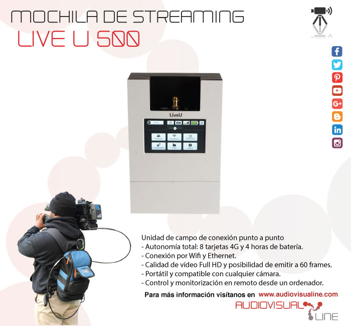 Mochila de streaming Live U 500