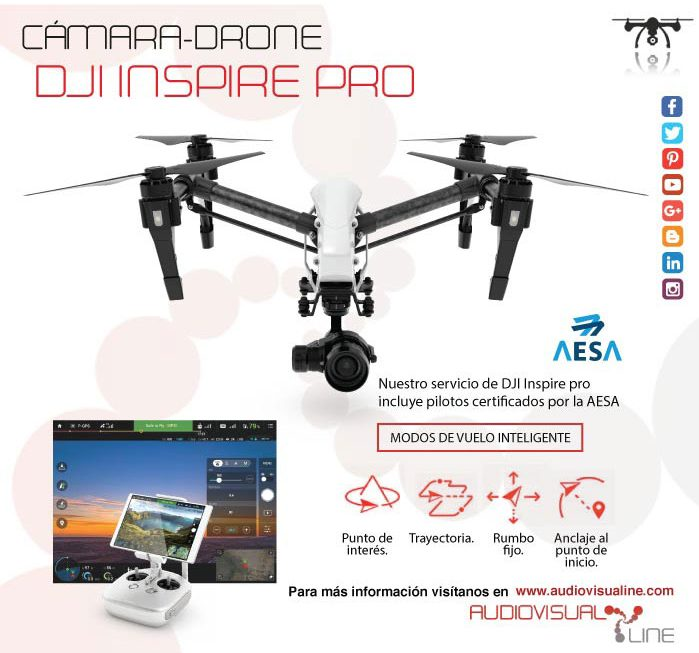 Servicio de cámara drone