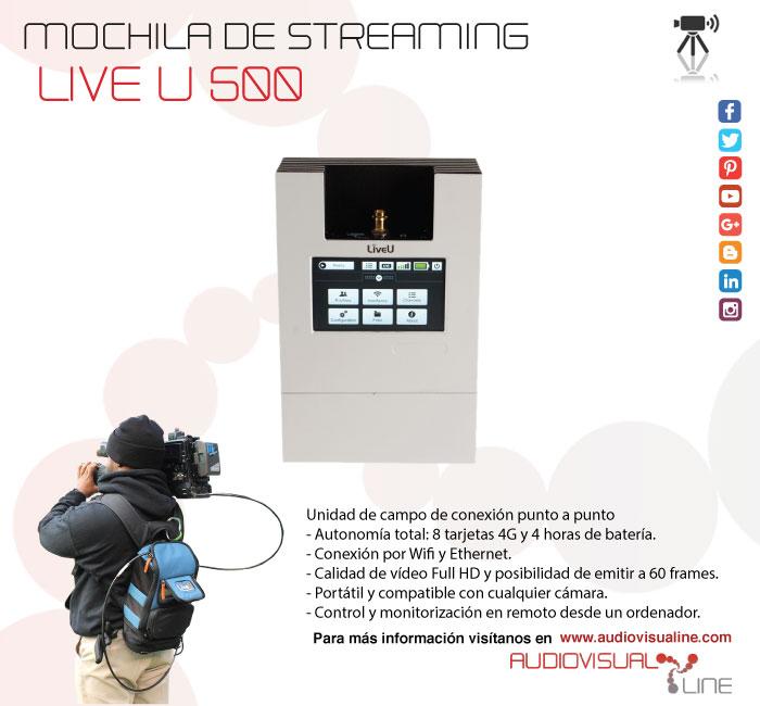 Mochila de streaming Live U 500