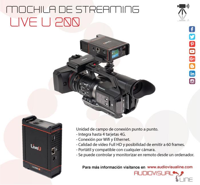 Mochila de streaming Live U 200