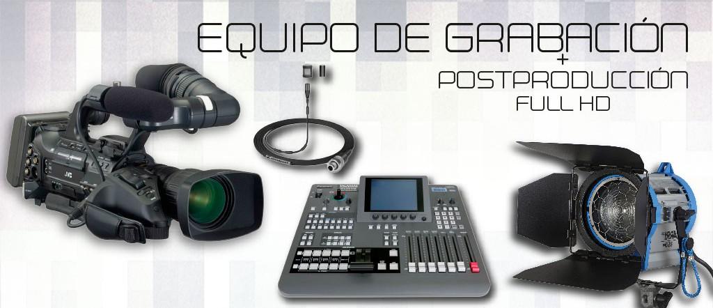 Alquiler Equipo de grabación
