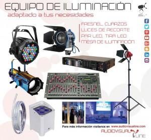 equipo de iluminacion Audiovisualine