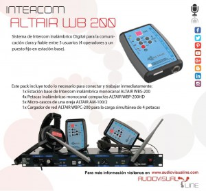 Intercom Altair WB200 Audiovisualine