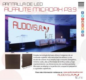 pantalla led alfalite micropix p3,9 audiovisualine