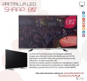 """pantalla SHARP 80"""" Audiovisualine"""