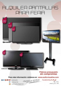 pantalla tv ferias Audiovisualine