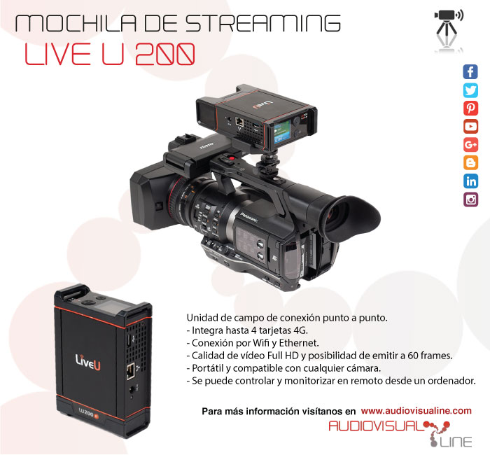 Mochila de streaming Live U 200