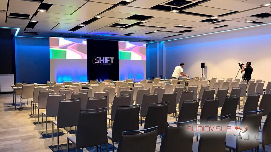 Evento audiovisual Shift en el Hotel Auditorium