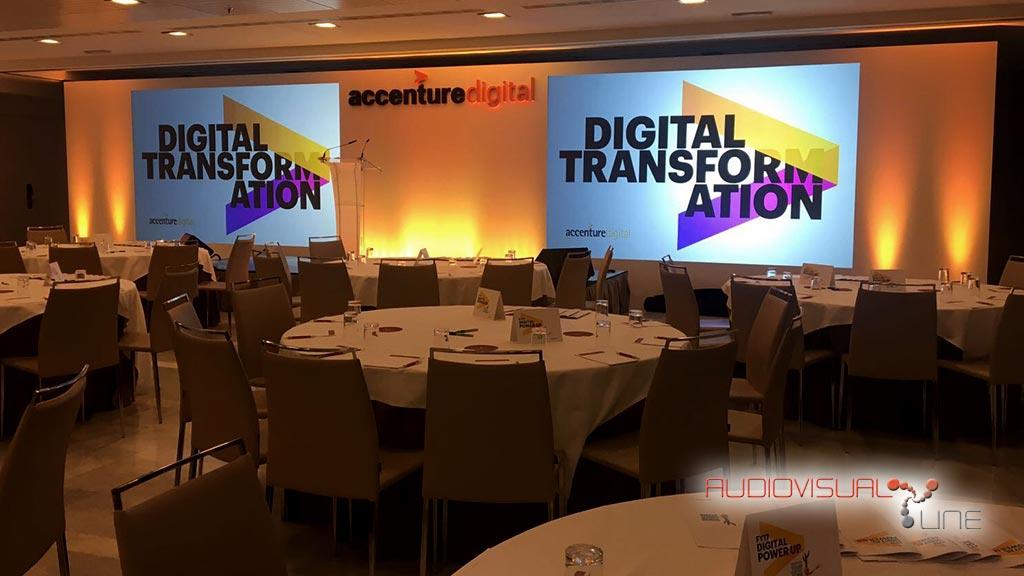 Evento de Accenture realizado por Audiovisual Line