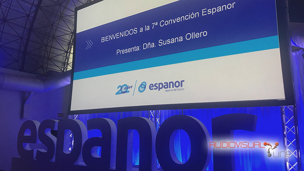 Montaje audiovisual para el evento de Espanor
