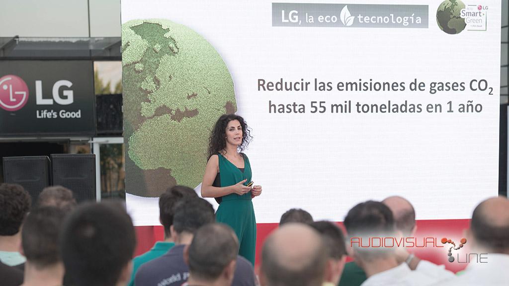 Montaje audiovisual para el evento de LG