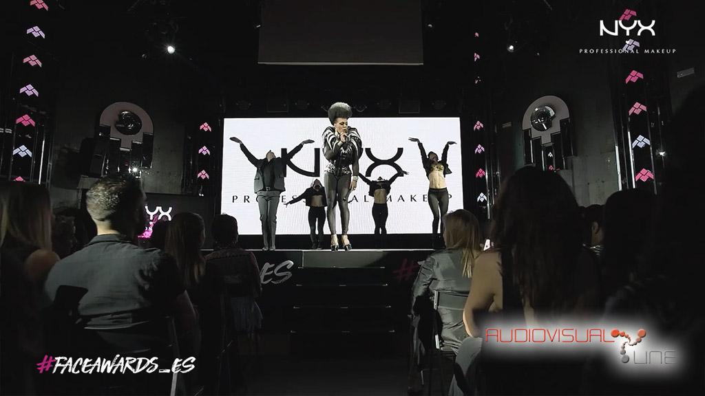 Montaje audiovisual para el evento de Nyx