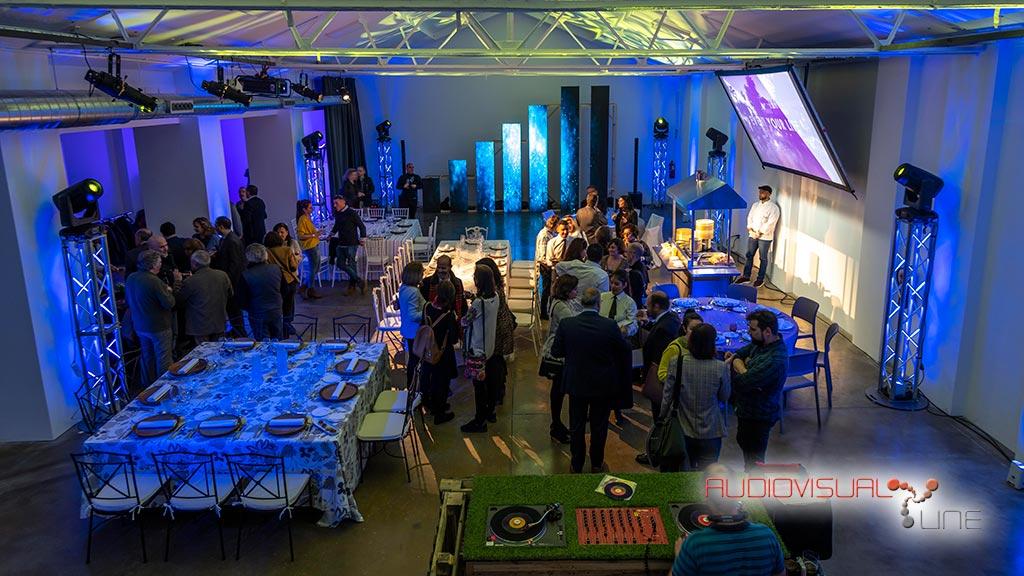Montaje audiovisual para el evento patrocinado en La Grada