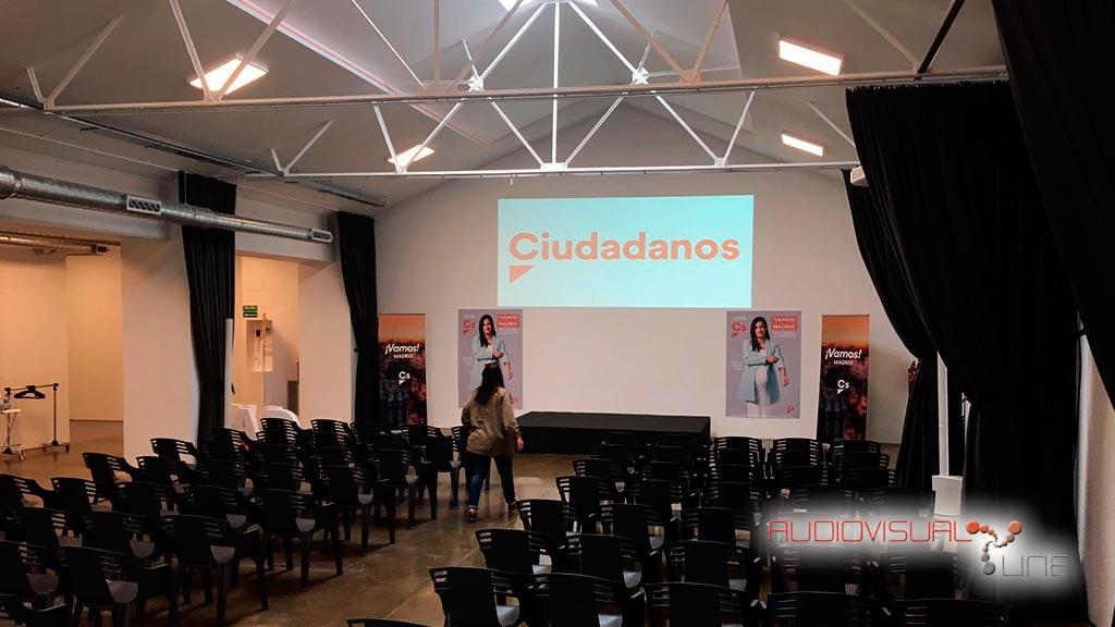 Montaje audiovisual del evento de Ciudadanos
