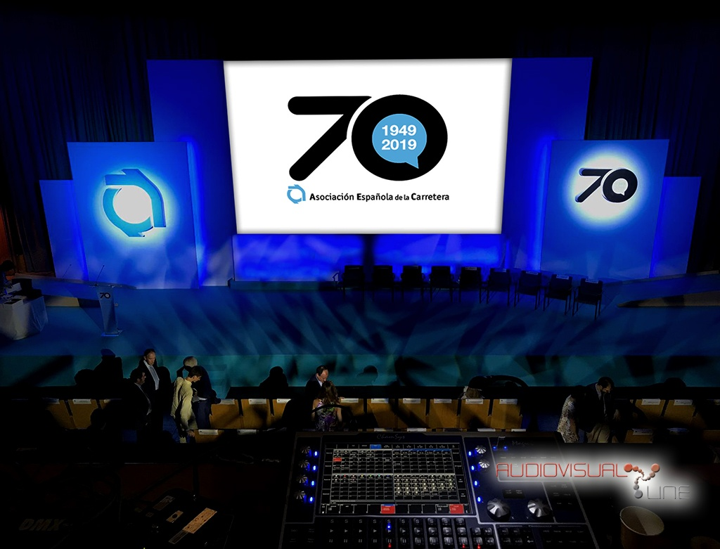 Montaje audiovisual del evento del 70 Aniversario de la Asociación Española de la Carretera