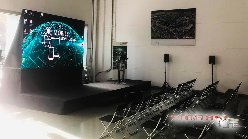 Montaje audiovisual del evento Arburg 2019
