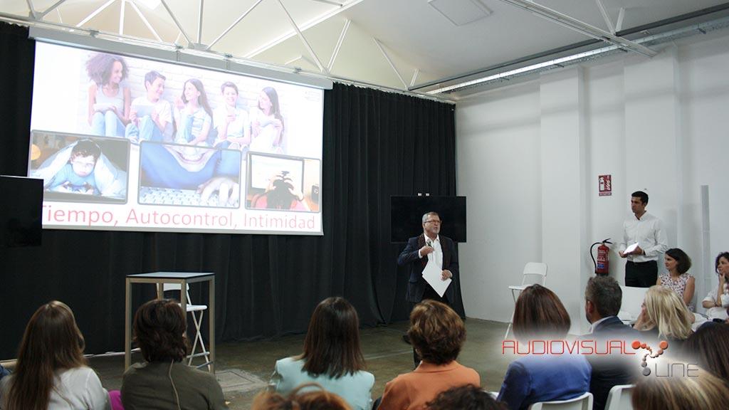 Montaje audiovisual para el evento de Google en La Grada