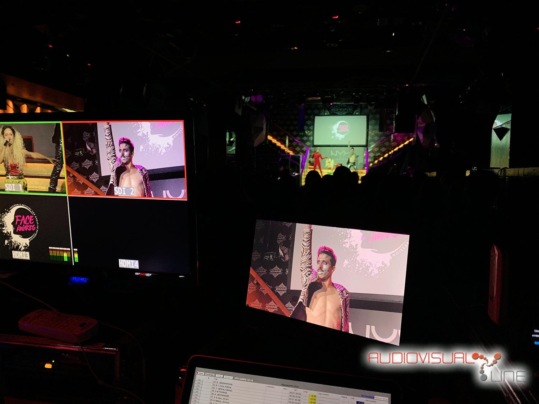 Montaje audiovisual y streaming de los premios Nyx Face Awards 2019