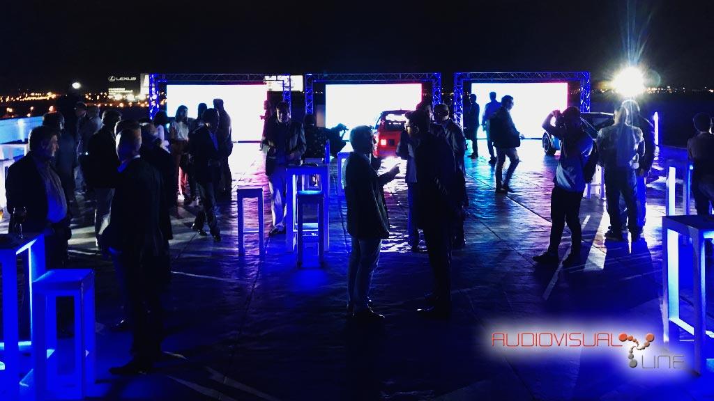 Pantallas LED e iluminación con Astera para el evento de Philips