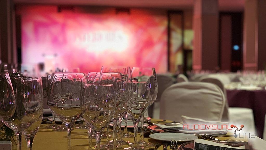 Montaje de iluminación y sonido para la V entrega de Premios de la Revista Interiores